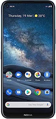 Nokia 诺基亚 8.3 5G Android 解锁智能手机,具有8/128 GB内存,四摄像头,双SIM卡和6.81英寸(约17.30厘米)屏幕,极地之夜(AT&T/T-Mobile/Cricket/Tracfone