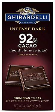 Ghirardelli 巧克力*深色棒,Twilight Delight 72% 可可可,3.5 盎司块 Ghirardelli Moonlight Mystique 92% Intense Dark Bar, 3.17