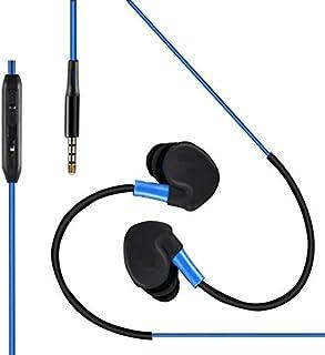 Shot Case 运动耳机适用于三星 Galaxy Note 8 智能手机,带麦克风和音量控制免提装置(插孔插头)蓝色