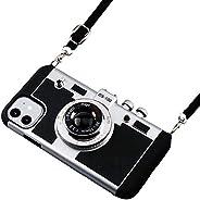 Wcysin 3D 相机设计手机壳适用于 iPhone 11 iPhone 11 Pro iPhone 11 Pro Max 带长颈带(iPhone 11)