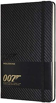 Moleskine James Bond 007限量版笔记本,带有主题图形和细节的直纹笔记本,硬封面,大尺寸13 x 21厘米,黑色,240页