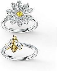 施华洛世奇 正品 永恒 花 戒指 组合 镀金 尺寸 8