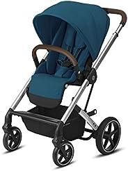 CYBEX Balios S Lux 手推车,正面或父母座位,单手折叠,多位置斜倚,可调节人造革车把,适合 6 个月以上的人群,河蓝色
