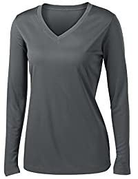 女士长袖吸湿排汗运动衫尺码 XS-4XL