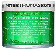 Peter Thomas Roth 黄瓜凝胶面膜 Extreme De-Tox 保湿面膜,冷却保湿,帮助舒缓干燥和刺激皮肤的外观