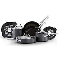 Calphalon 經典鍋和平底鍋套裝,10 件炊具套裝,無煮沸插入物,不粘