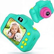 Desuccus 儿童相机玩具女孩高清 1080p 相机儿童小女孩相机玩具视频数码相机女孩圣诞节生日礼物适合 3-8 岁女孩的32GB SD 卡 5 种有趣的游戏(*)