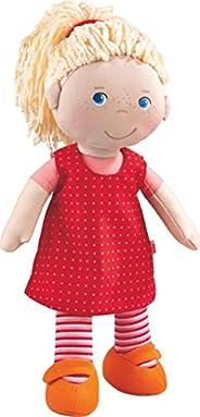 HABA 302108 安妮莉娃娃,穿衣有發的布娃娃,30cm,適用于18個月以上兒童