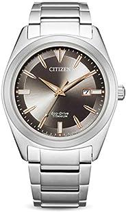 CITIZEN 西铁城 男士 指针 光动能手表 带超钛表带 AW1640-83E