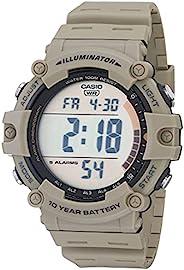 Casio 卡西欧 男式石英树脂表带 卡其色 27.63 休闲手表 (型号: AE-1500WH-5AVCF)