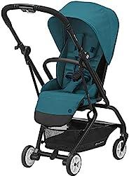 CYBEX Eezy S Twist 2 婴儿车,360° 旋转座椅,父母朝前或向前方向,单手倾斜,紧凑折叠,轻质旅行推车,适合6个月以上的婴儿,河蓝色