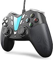 IFYOO V911 有线电脑游戏控制器 USB 游戏手柄操纵杆,适用于电脑和笔记本电脑(Windows 10/8/7/XP,蒸汽),Android 和 PS3,3M USB 电缆 - 银色和黑色