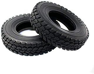Toyoutdoorparts RC 硬质橡胶轮胎 4 件 22 毫米型 适用于田宫 1/14 比例拖拉机