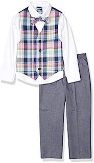 IZOD 儿童男童纯色斜纹背心套装