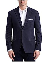 Calvin Klein 男式修身款,柔软,2 粒扣夹克,缺口领,精针线,正面无褶