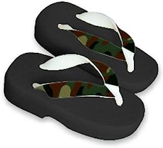 Hajime 一步 木屐 柔软耐水性强 海绵制 XS 黑/迷彩×绿 迷彩×绿 (梅赛绿×绿/XS)
