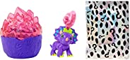 Cave Club Dino Baby Crystals Glow Series, Surprise Pet with Slime or Moldable Sand & Glow-in-The-Dark Acce