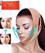 双下巴减震器,脸型下巴带,V字型提升,面部*带和提升带,无痛的脸带消除松弛,透气和可重复使用的面部*带