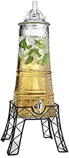 Palais 玻璃器皿 透明 八角 饮料分配器 - 473 升 带玻璃盖和金属支架 埃菲尔铁塔