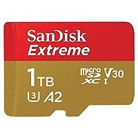 SanDisk 闪迪 Extreme 1 TB microSDXC存储卡+具有A2 App性能的读卡器+ Rescue Pro Deluxe,高达160 MB / s,Class 10,UHS-I,U3,V30