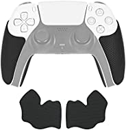 PS5 控制器手柄套,防滑吸汗橡胶控制器皮肤贴纸适合标准 PS5 双感应无线/有线控制器
