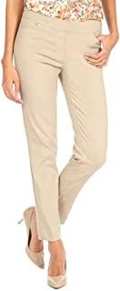 SLIM-SATION 女式常规套穿直筒裤,带口袋