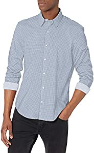 Calvin Klein 男式正装衬衫 Xtreme 修身防污弹力印花
