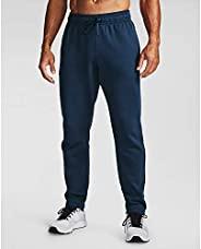 Under Armour Men's Rival Fleece Pants, Academy Blue (408)/Onyx White, 3X-Large