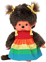 Sekiguchi 220977 Monchhichi 彩虹女孩带裙子,约 20 厘米 多色