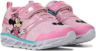 Josmo 女童 Minnie Lighted 运动鞋(幼儿/小孩),7 码,浅粉色