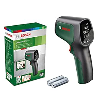 Bosch 博世 UniversalTemp 红外温度计(温度范围:-30°C 至 +500°C,2 个电池,AA,纸盒包装)