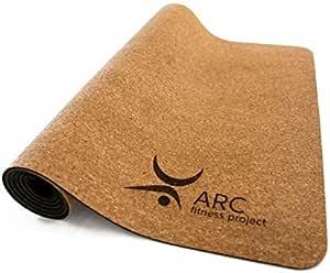 软木瑜伽防滑垫+免费瑜伽带(72 英寸 x 24 英寸 x 4 毫米厚)- 天然橡胶,环保,*,无乳胶,*,* 可生物降解。 瑜伽说明书