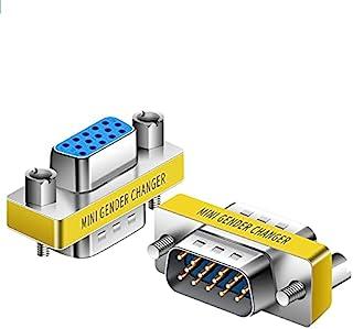 VGA 连接器,高清新 15 VGA SVGA KVM 三转换器,母对母,公对公,性别转换器适配器耦合器,迷你性别转换器(10,公对母)