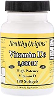 Healthy Origins 维生素D3软胶囊,1000粒 Lulanolin 180粒