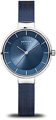BERING Time   女式超薄手表 14631-307   31 毫米表壳   太阳能系列   不锈钢表带   防刮蓝宝石水晶   极简风格 - 丹麦设计