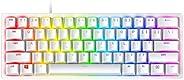 Razer 雷蛇 Huntsman Mini 60% 游戏键盘:非常快的键盘开关 - 线性光学开关 - Chroma RGB 照明 - PBT 键帽 - 板载内存 - 水银白