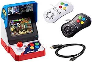 Neogeo Mini Pro 游戏机套装,日语版-包括2个游戏手柄(1个黑色和1个白色)和HDMI电缆-Neo Geo Pocket