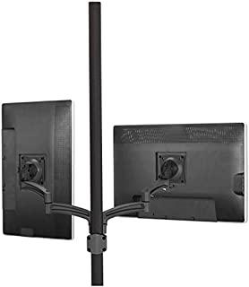 Chief Kontour K2P220 Articulating Dual Display 2L Arm Pole Mount, Up to 25lbs Capacity, Black