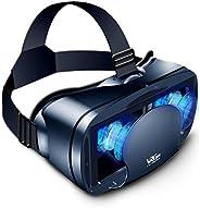 3D 虚拟现实眼镜,VR 耳机全屏视觉广角柔软舒适新款 3D VR 眼镜,适用于 5-7 英寸智能手机和 iPhone 11/Pro/X/Xs/XR/Max,适用于三星 S20/S10/Note10/9/Plus