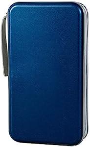 Penxina 80 容量 CD/DVD 盒钱包,重型 DVD 碟 VCD 存储,支架,小册子,包,保护套活页夹,专辑(深蓝色)