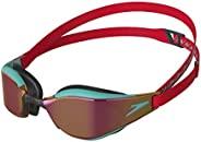 Speedo 速比涛 中性款 Fastskin Hyper Elite 镜面护目镜,红色/瓷砖蓝/紫罗兰金色,均码