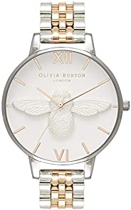 Olivia Burton 3D 蜜蜂白色表盘双色女士手表 OB16AM156