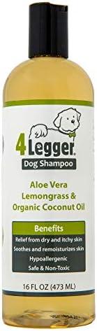4-Legger Certified 小狗洗发水-天然,低致敏性,芦荟和柠檬草,舒缓正常,干燥,发痒或敏感的皮肤-可生物降解-美国制造-16盎司,473毫升