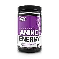 Optimum Nutrition 歐普特蒙 ESSENTIAL AMIN.O. ENERGY必需氨基酸粉,含綠茶和生咖啡提取物,適合運動前服用,康科德葡萄味,30份