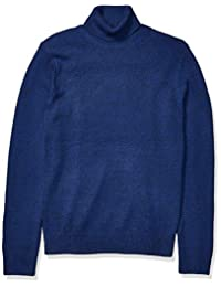 亚马逊品牌 - GoodThreads男士超柔斜纹高领毛衣