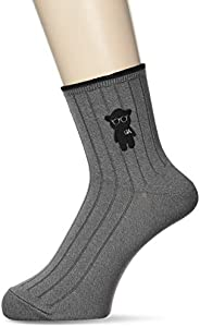 Emporio Armani 安普里奥·阿玛尼 男士 短袜 2322300 卡通熊刺绣,深灰色,27.0-29.0 cm