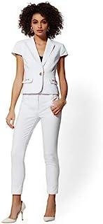 New York & Co 女式白色单扣短袖夹克(20)