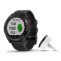 Garmin 佳明 Approach S40 时尚 GPS 高尔夫智能手表010-02140-03 Bundle with CT10 Black stainless with black band bundle