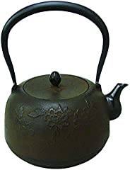 アサヒ 南部铁器 铁茶壶 牡丹 1.6升 T-46