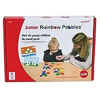 Edx Education 少儿彩虹小卵石活动套装-包括16个活动组件-年龄18个月以上 +-整理和堆放石头-儿童早期数学教具-计数和构造玩具